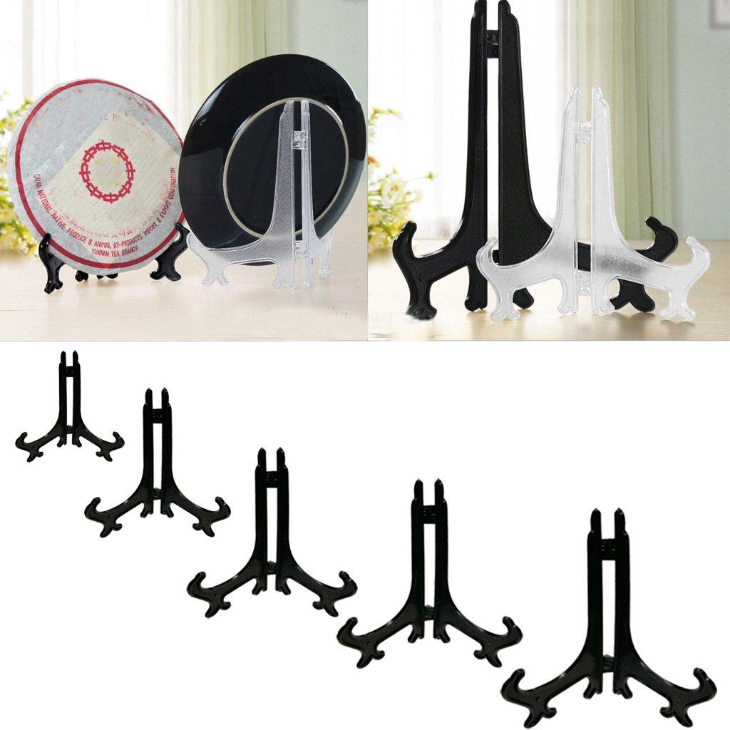 Negro 3# Sharplace 5 Unids Display Caballete de Pl/ástico Soporte de Cuadros Taz/ón Titular Estanter/ía Estante de Exhibici/ón