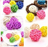 Colorful 3Sizes Rattan Ball DIY Sepak Takraw Balls Kids Toys Home Ornaments Birthday/Party Decorations