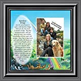 Personally Yours Rainbow Bridge, Loss of a Pet, Memorial Frame, 10x10 6766 (10x10, Black1)