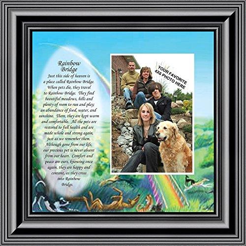 Dogs Bridge Rainbow (Rainbow Bridge, Loss of a Pet, Pet Loss Frame, 10x10 6766B)