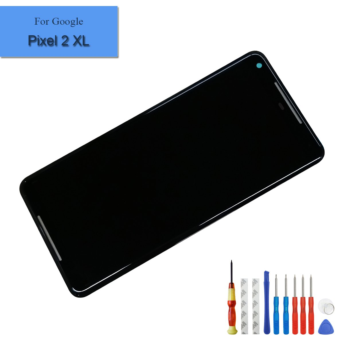 for Google Pixel 2 XL Amoled Touch Screen 6.0'' Display Assembly Digitizer Glass LCD with Adhesive+Tools