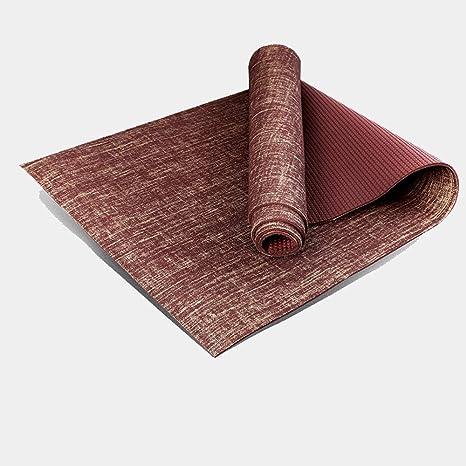 Amazon.com : YXGYJD Pilates Mat Yoga Mat Natural Linen Yoga ...