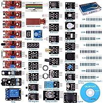 Quimat 37-in-1 Sensor Modules Kit for Arduino R3 Mega2560 Mega328 Nano K5,Raspberry Pi and MCU Education User with Documents Available