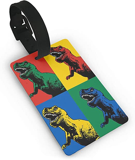 Dinosaur T-rex1 Luggage Tags Bag Travel Labels For Baggage Suitcase
