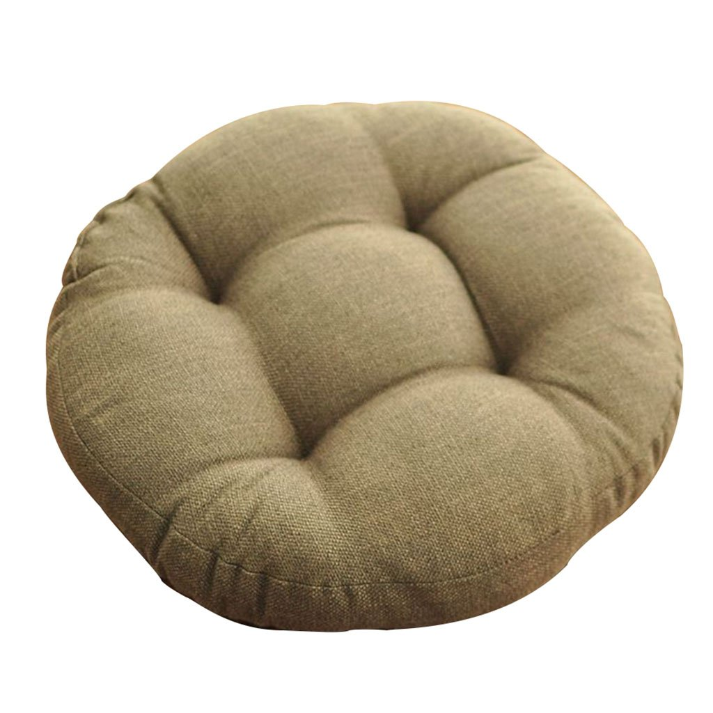 Cushion Circular Chair Cushion Environmental Ventilation Seat Cushion Hip Relief Furniture Accessories (Color : Brown, Size : Diameter:60cm)