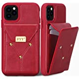 FYY Case for iPhone 11 Pro Max, Lightweight PU Leather Wallet Case, Handmade Large Capacity Protective Case Cover with Card Slots for Apple iPhone 11 Pro Max Red