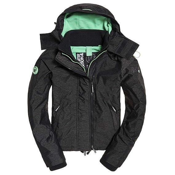 promo code e0c68 63ca0 Superdry Damen Jacke Mid Charcoal Marl/Peppermint
