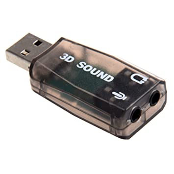 SODIAL(TM) Instantaneo Externo Adaptador Tarjeta de Sonido 5.1 USB 3D Audio para PC Portatil de Escritorio Entrada Microfono y Salida Conector de ...