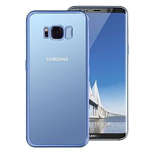 Coque Samsung Galaxy S8, Tronisky [Absorption de Choc] Galaxy S8 Housse Résistante antichoc Premium TPU Silicone Bumper Coque pour Samsung Galaxy S8 - Bleu