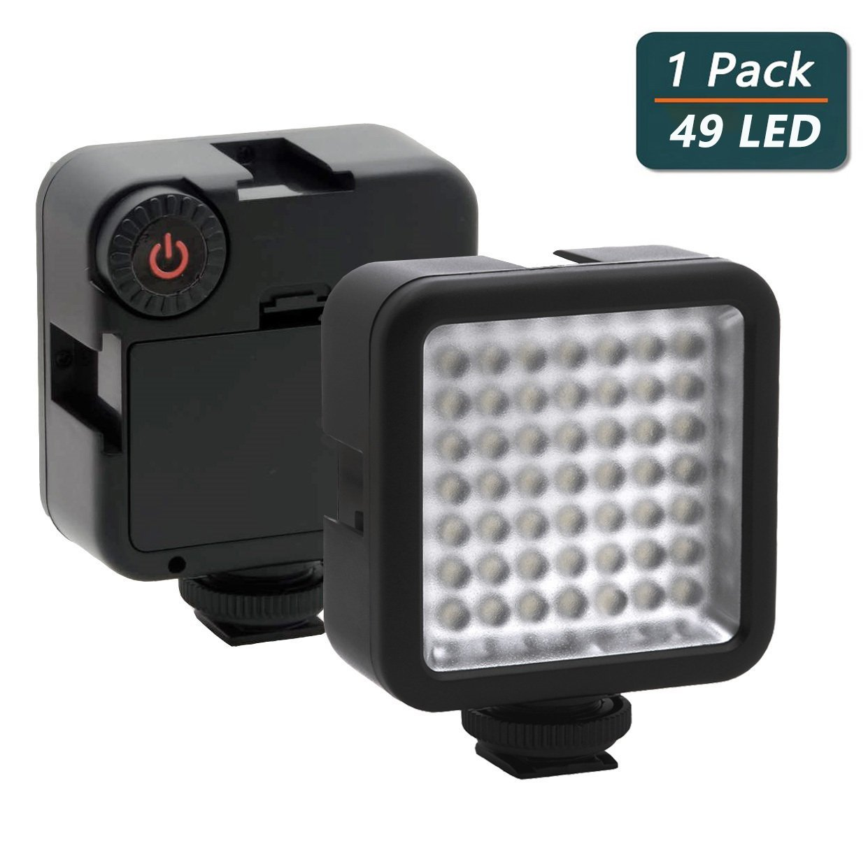 Ultra Bright LED Video Light,Elivern Perfect 49 Led Camera Lighting,3200-6000K Dimmable Portable Camera Light Panel,Mini Beauty light for Mobile Phones,Canon,Nikon,Sony and Other DLSR Cameras