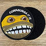Cowabunga It is Embroidered Hook-Backed Morale