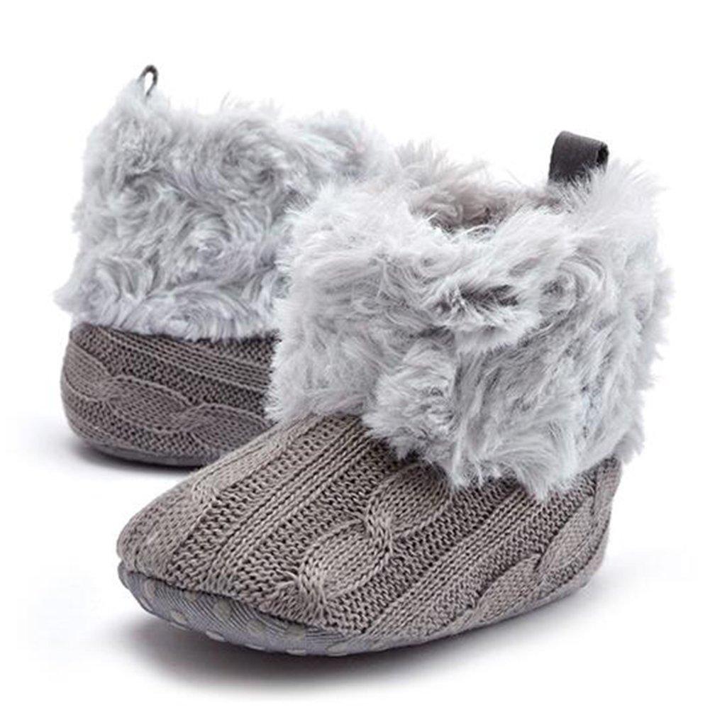 Nuevo Highdas Zapatos Bebé Punto Ganchillo Fleece Botas Muchacha ...