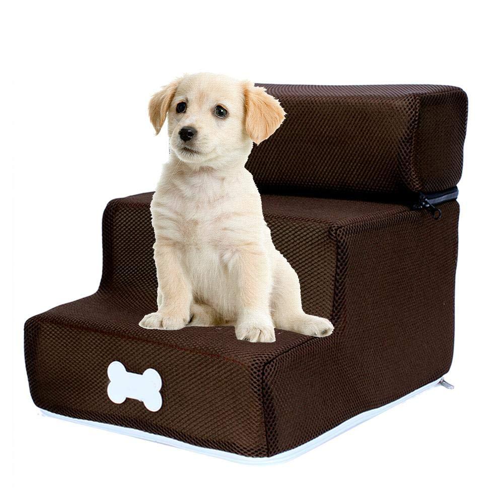 Onlyonehere Knowes Escalera para Mascotas Escalera para Perros Escalera Desmontable para escaleras de Tres Pisos Escalera para Perros Lavable y extra/íble.
