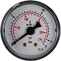 Wasser oder Wasser 50 mm 0-15 PSI 0-1 Bar Jiobapiongxin Mini-Niederdruckmanometer f/ür Kraftstoff /Öl