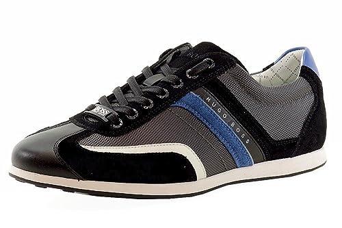 Hugo Boss - Zapatillas de Otra Piel para Hombre Gris Gris Oscuro 44, Color Gris, Talla 44: Amazon.es: Zapatos y complementos