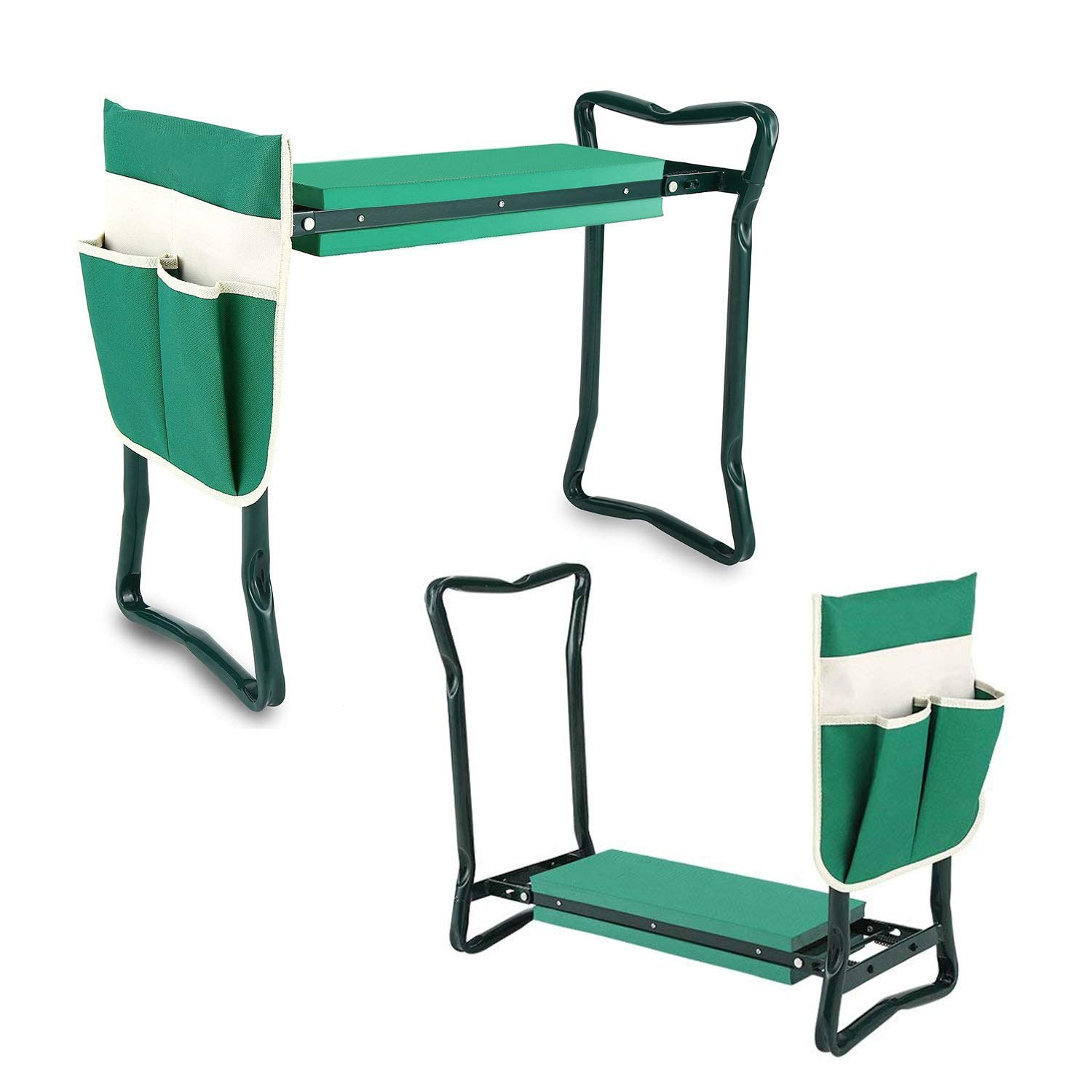 TREE.NB Garden Kneeler and Seat with 2 Bonus Tool Pouches