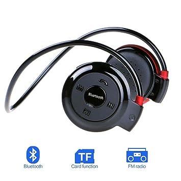 JUBLUN Auriculares Bluetooth Deportivo Auriculares Inalámbricos Bluetooth 4.0 Estéreo Auriculares con Micrófono, Soporte Tarjeta TF (hasta 32G), ...