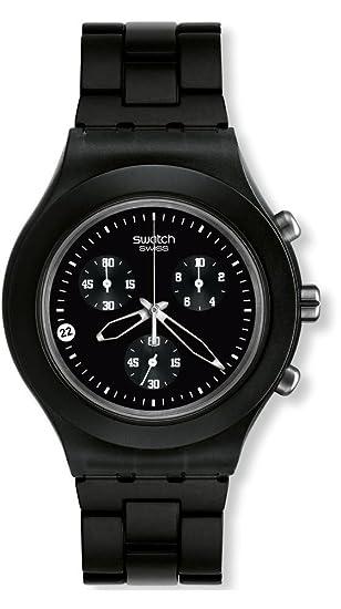 Swatch SVCF4000AG - Reloj analógico de caballero de cuarzo con correa de aluminio negra: Swatch: Amazon.es: Relojes