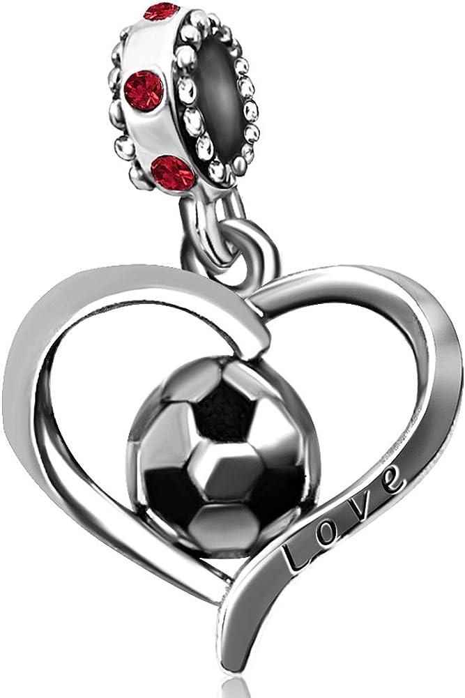 JMQJewelry Heart Football...
