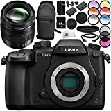 Panasonic Lumix DC-GH5 Mirrorless Micro Four Thirds Digital Camera with 12-35mm f/2.8 II ASPH. POWER O.I.S. Lens 14PC Bundle – Includes 64GB SD Memory Card + MORE - International Version (No Warranty)