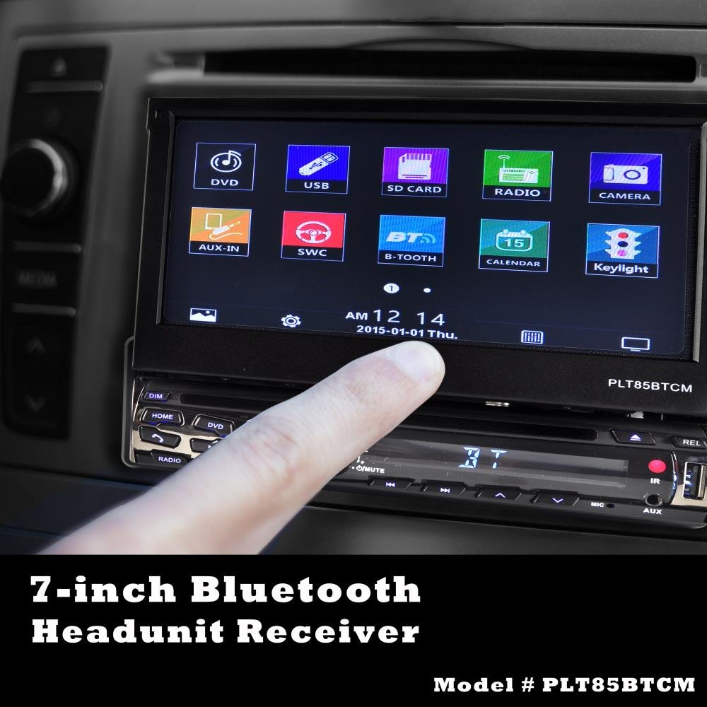 Pyle Car Stereo Receiver System Backup Camera Kit Hook Ups Decks Wiring Harness Color Touch Screen Headunit Radio Cd Dvd Player Bluetooth Wireless Streaming Hands Free