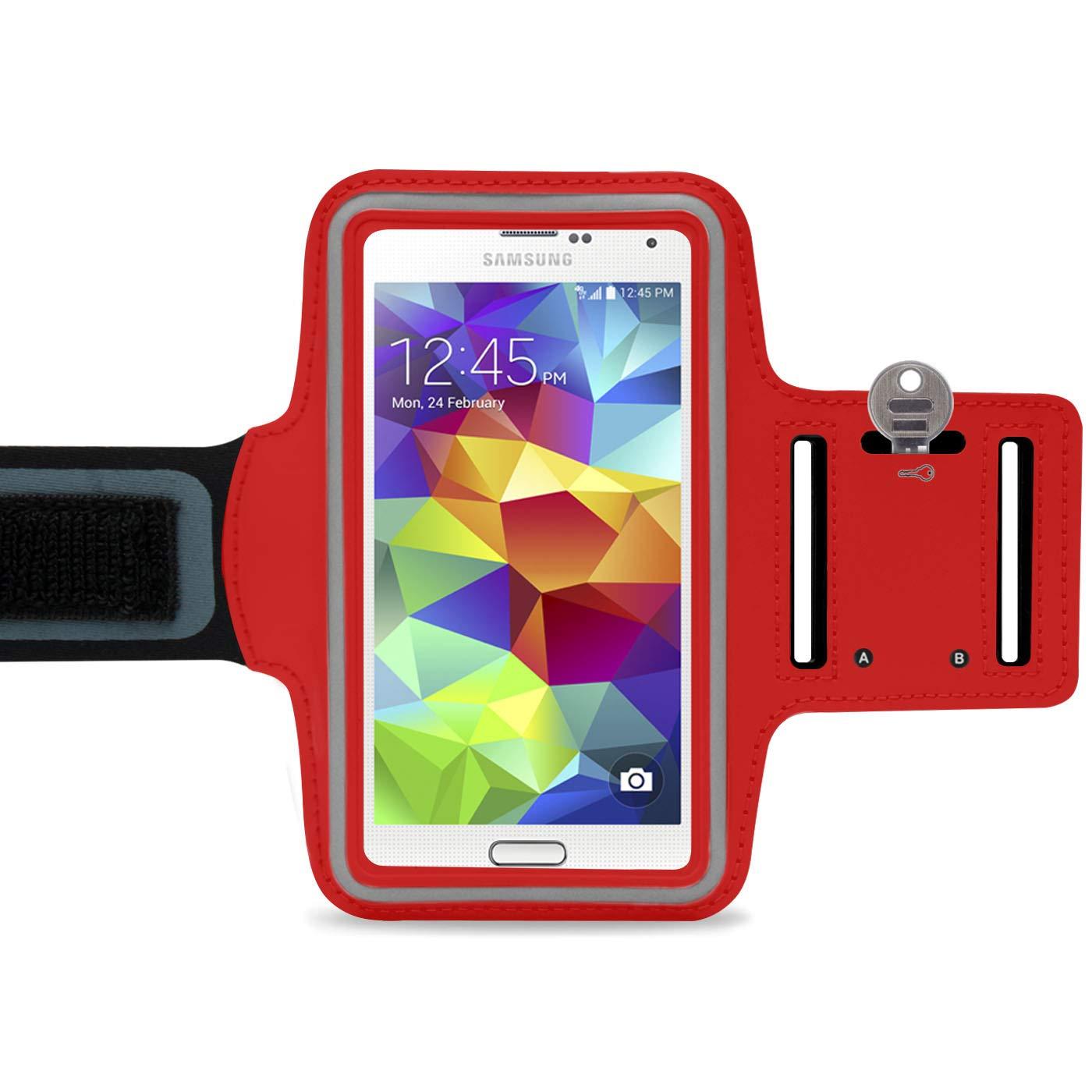 Neopren Sporth/ülle bis 5,7 Zoll F/ür HTC U11 // 10 Compact//One M9 Smartphone Sportarmband Zum Joggen Blau LetiStore Handy Sport Armband