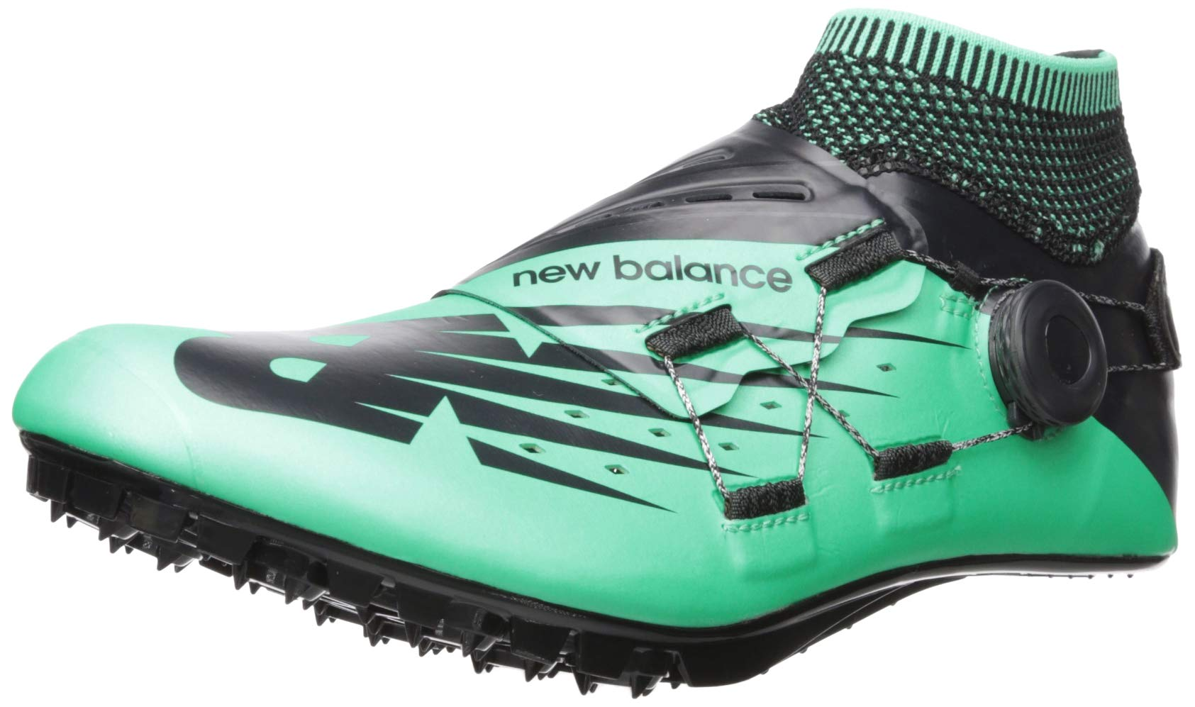 New Balance Men's Sigma V2 Vazee Track Shoe neon Emerald/Black 4 D US by New Balance (Image #1)