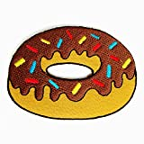 Fancy Doughnuts Iron on Patches - 6Patch
