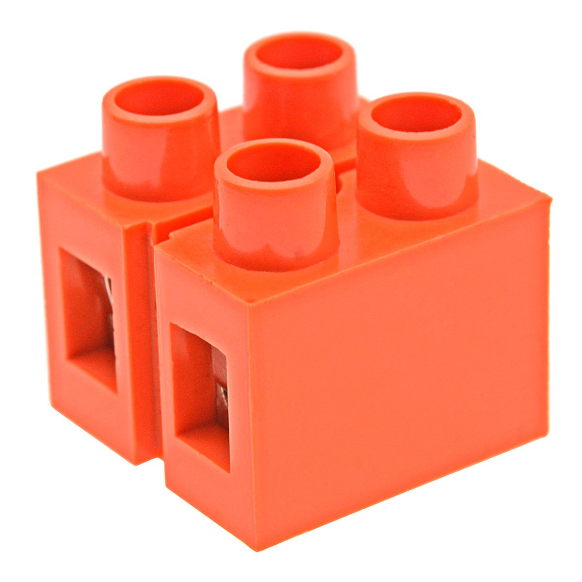 YXQ 6Pcs 600V 36A Dual Row 2 Positions Screw Terminal Electric Barrier Strip Block