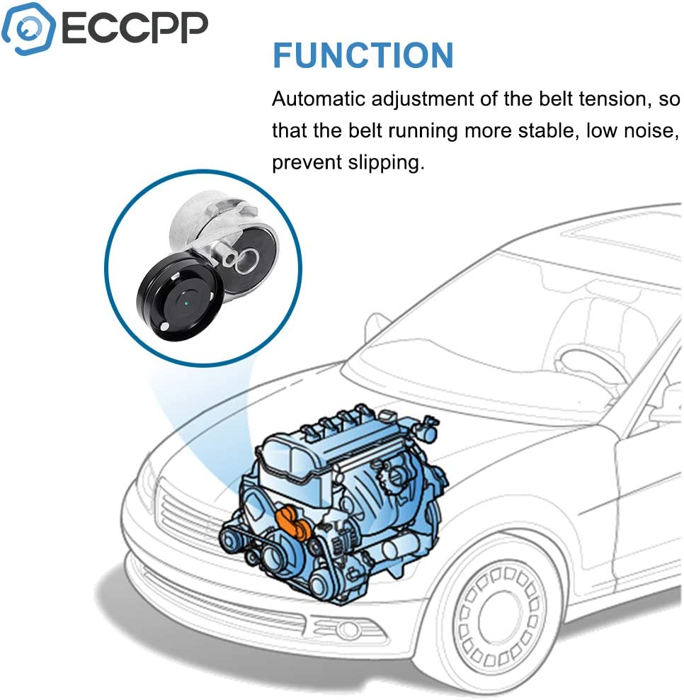 ECCPP Belt Tensioner Assembly Fit for 1996-2001 Audi A4