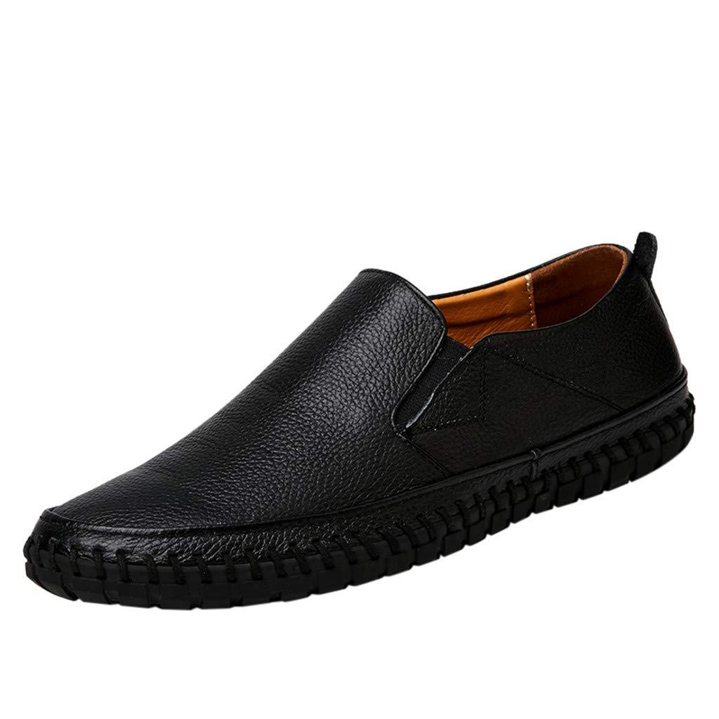 Scarpe da Ginnastica da Uomo Senza Lacci Running Leggere Sneakers da Trekking Antiscivolo Scarpa da Passeggio di Grandi Dimensioni in Pelle Confortevoli Casual da Guida Scarpe da Lavoro