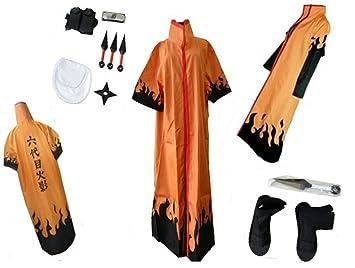 Naruto Sixth Hokage Naruto Uzumaki Cosplay disfraz: Amazon.es ...