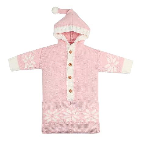 Yeying123 Saco de Dormir de Color sólido del Copo de Nieve recién Nacido Capa de la