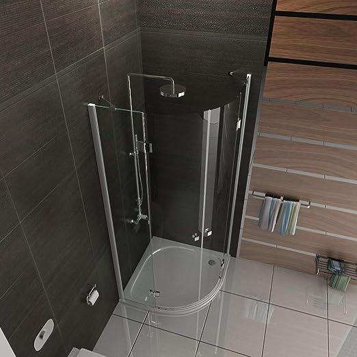 Diseño redondo de cristal ducha mampara de 80 x 195 con cal/easy ...