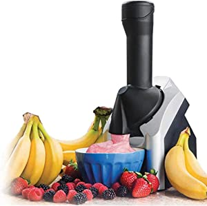 DFEDCLL Fruit Soft Serve Ice Cream Maker, Electronic Frozen Yogurt Machine Sorbet with Countdown Timer, for Frozen Fruit Dessert Portable Household Use