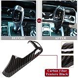 DesirePath Car Gear Shift Knob Cover Trim Carbon Fiber Sticker Fit for BMW E60 E70 X5 X6