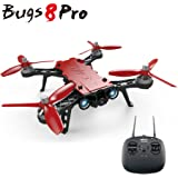 ElementDigital MJX Bugs 8 Pro Drone FPV RC Racing Quadcopter B8PRO 2.4G 6-axis Gyro 4CH 3D Flips Angle/Acro Mode Switch High Speed RC Drone with 5.8G FPV Camera, D43 4.3 LCD RX Display