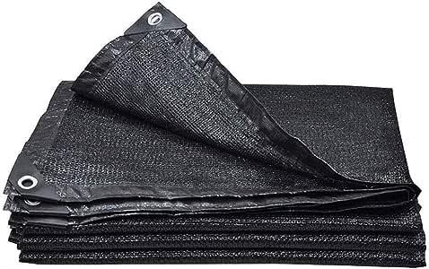 Toldo Vela 90% de Tela de Sombra Sunblock Shade Net UV Black Resistant Con Ojales para Pérgola Techo Cubierto, Top de Lona de Malla de Jardín Shade para Flores Plantas Patio Césped