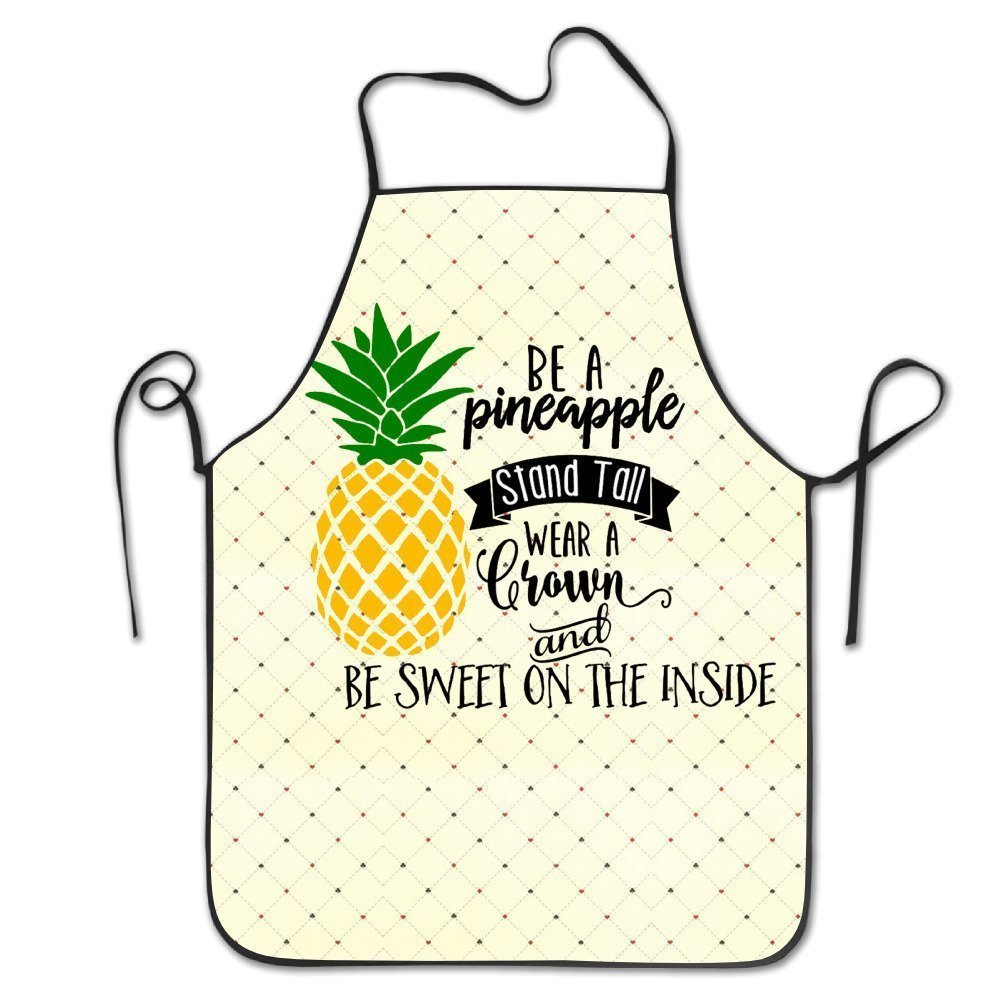 Be A Pineapple Adjustable Bib Apron Adult Home Kitchen Apron Chef Apron For Men And Women WanHSP