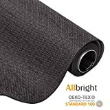 Allbright Bahamas 100% Blackout Manual Roller Shades, Oeko-Tex Standard 100, 23'' x 83'', Gray