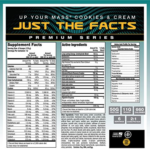 MHP Up Your Mass High Protein Super Weight Gainer, Cookies and Cream, 4.6 Pound by Maximum Human Performance (Image #5)