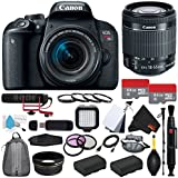 6Ave Canon EOS Rebel T7i DSLR Camera with 18-55mm Lens (International Model) + Rode VideoMic GO + Deluxe Cleaning Kit + Pro Hand Camera Grip + SD Card USB Reader + Mini HDMI Cable Bundle
