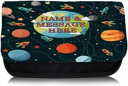 Personalizado Planetas Espacio Barco sh190 estuche escolar/Neceser de maquillaje/Consola de juegos ds Carrier: Amazon.es: Oficina y papelería