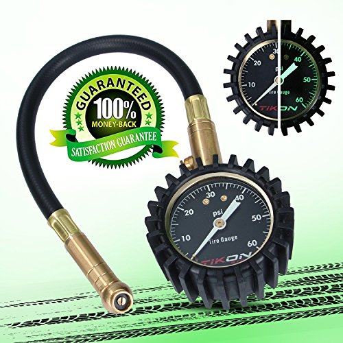 Tire Pressure Gauge (0-60 psi) for Car Auto Motorcycle Truck RV ATV (Set Gauge Tire)
