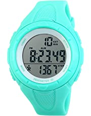 TOPCABIN Men's and Women's Teenager Waterproof Electronic Multi-Function Step Counter Outdoor Sports Swimming Students Pedometer Fashion Watches Electronic Sport Watch for Women Junior Boys Girls