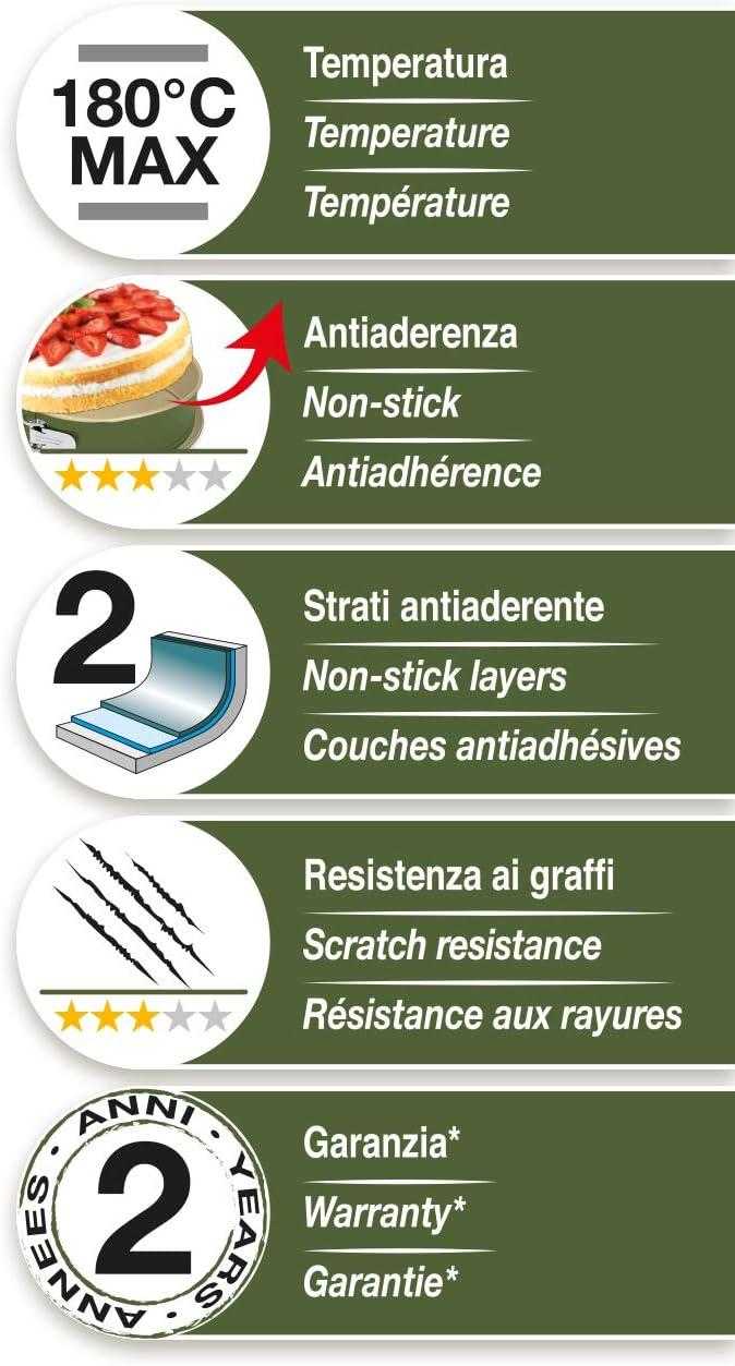 Bnat Molde para Plumcake 25x11cm Guardini Material: Acero con Revestimiento Antiadherente de Cera de Carnauba Color Verde y Beige.