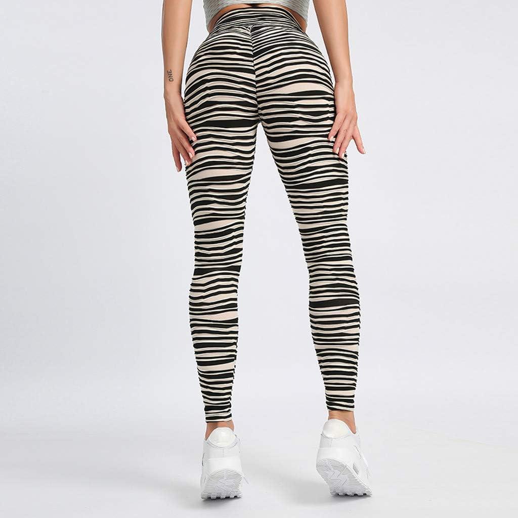 YWLINK Damen Mode Mesh Patchwork Hohe Taille Leggings Gym Active Pants Yogahosen