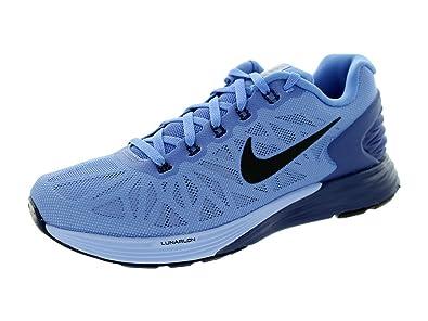 buy online ce12c ccec0 Nike Women s Lunarglide 6 Polar Black Blue Legend Almnm Running Shoe 10  Women
