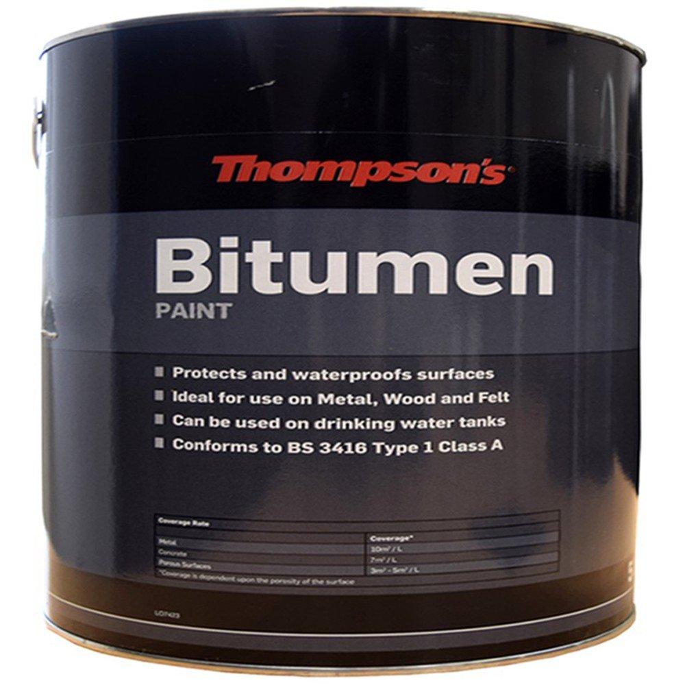 Thompsons Bitumen Paint Black 2.5 Litre