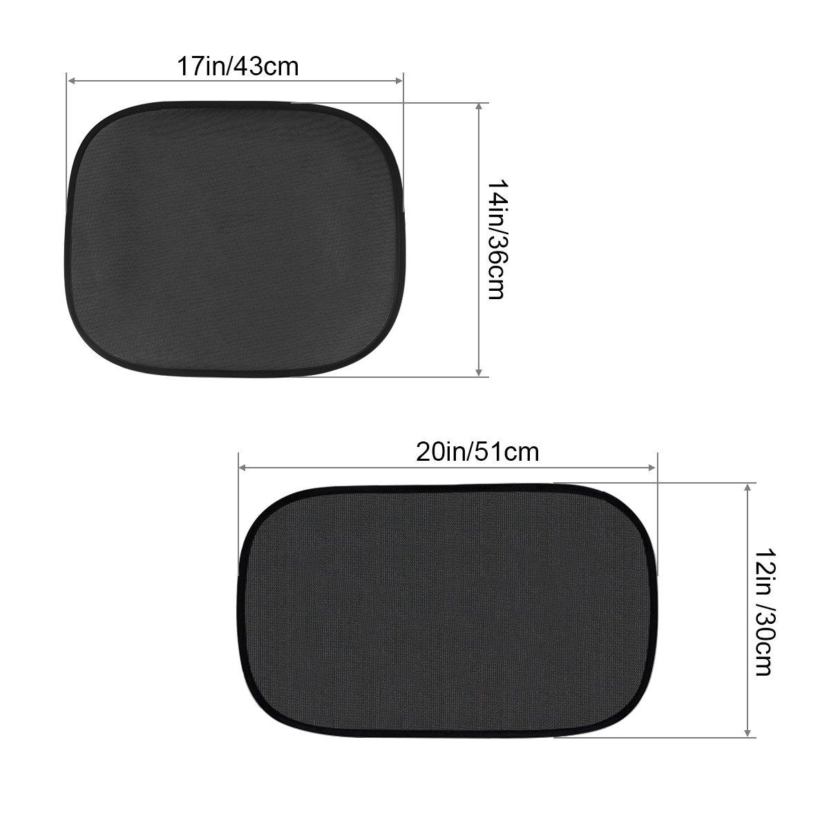 Rear Side Windows Foldable Block 98/% Rayos UV Nocivos y Sun Glare Heat Parasol de Coche Car Window Shade Covers para Ni/ños y Mascotas